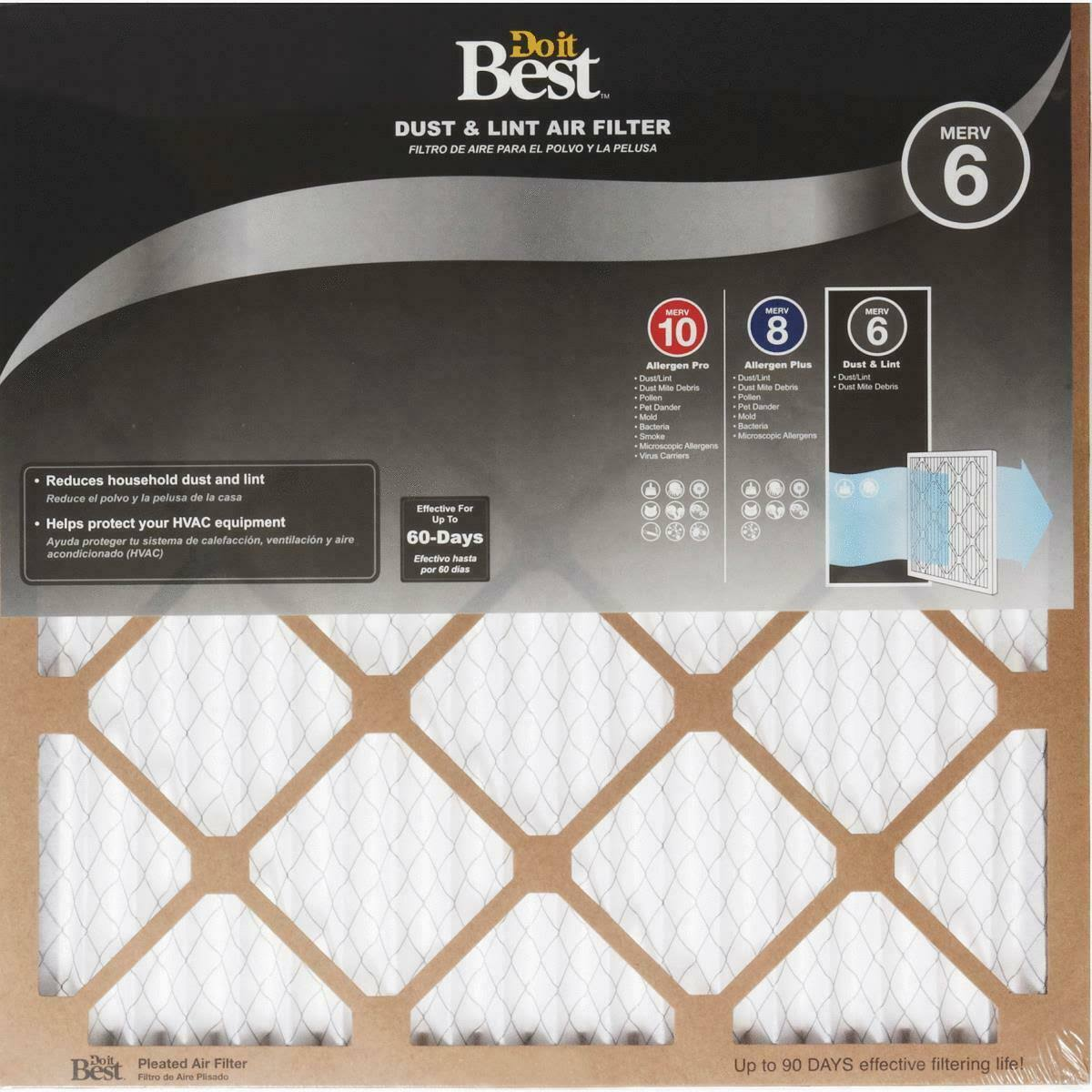 Flanders Do It Best Dust & Lint Furnace Filter 12 Pack