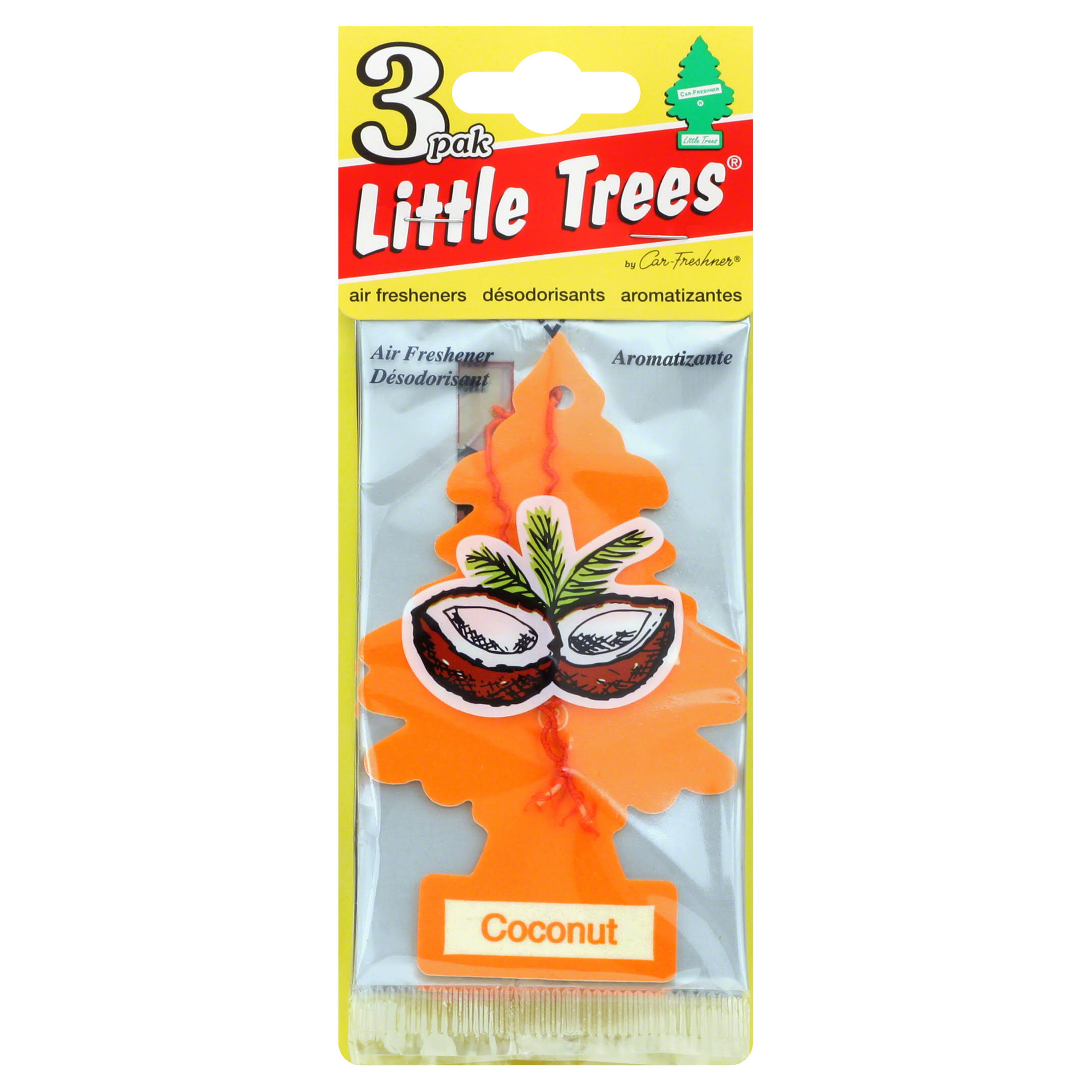 Little Trees Hanging Car and Home Air Freshener - Coconut Scent, 3pk