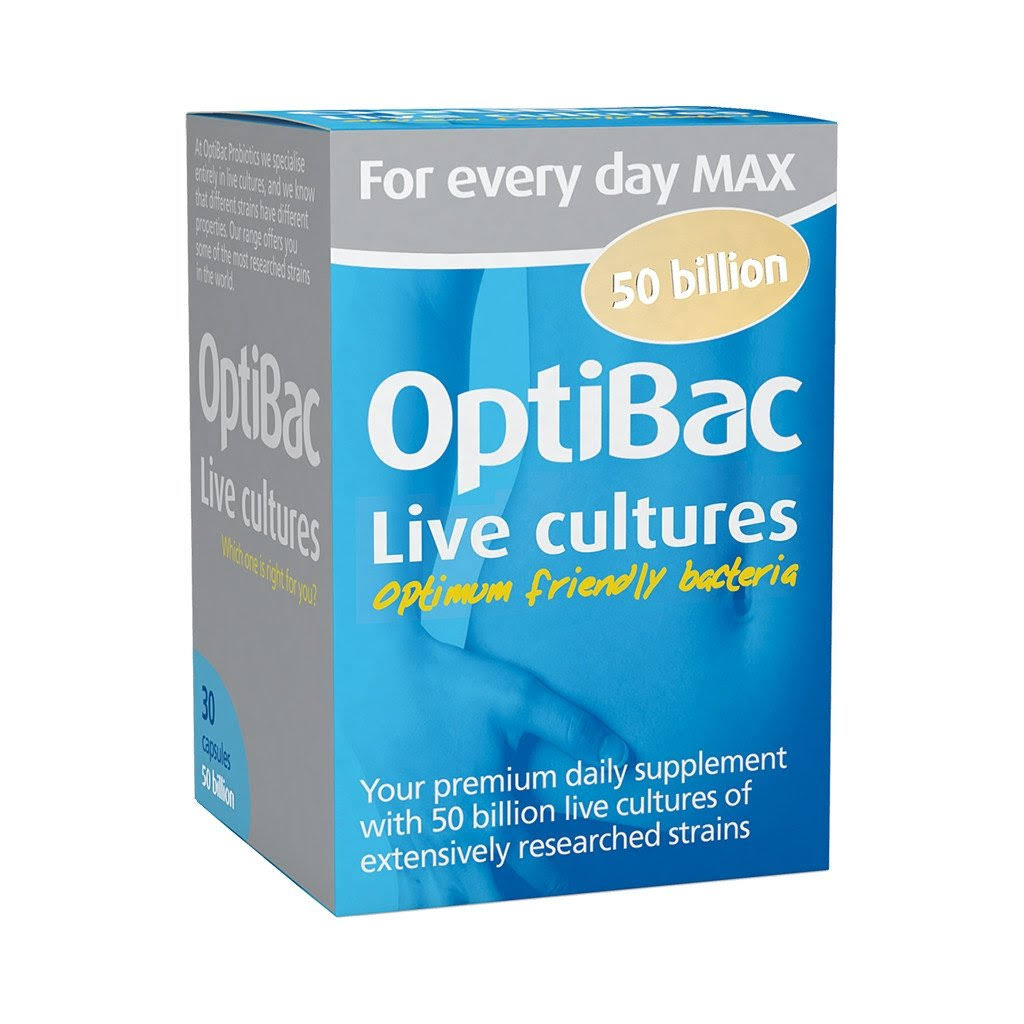 OptiBac Probiotics for Every Day Max (30 Capsules)