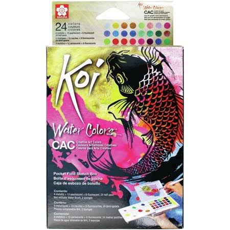 Sakura Creative Colors Koi Watercolor 24 Color Pocket Field Sketch Box