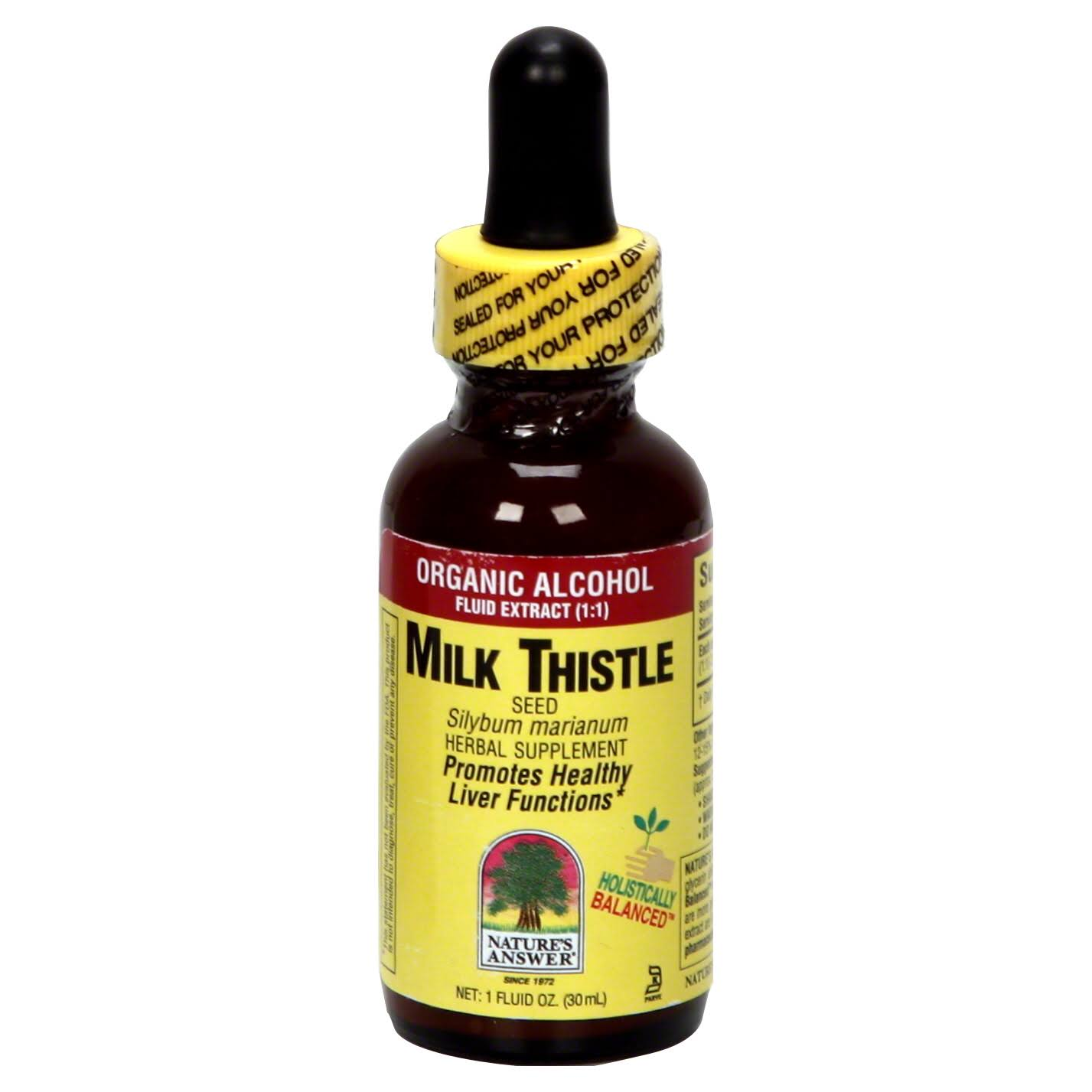 Nature's Answer Milk Thistle Seed, Organic Alcohol, Fluid Extract (1:1) - 1 fl oz