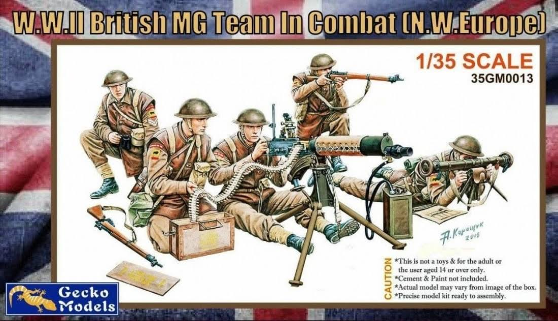 Gecko Models 1/35 WWII British MG Team in Combat Figures #...