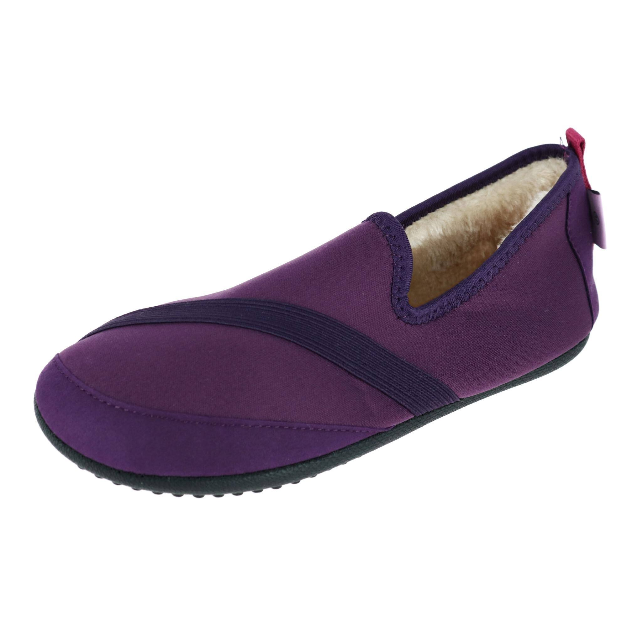 Fit Kicks Women's Solid Kozi Kicks Insulated Slippers - Purple, Medium