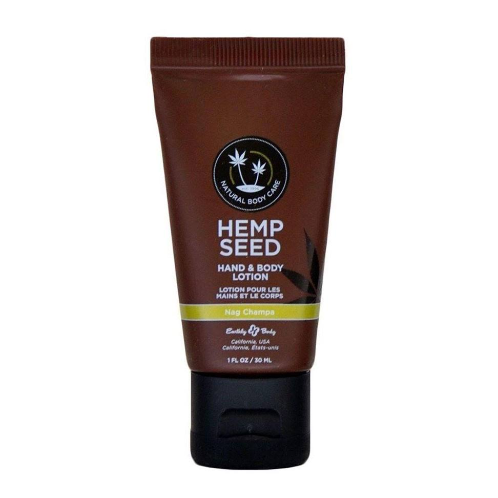Earthly Body Hemp Seed Hand and Body Lotion - Nag Champa, 1oz