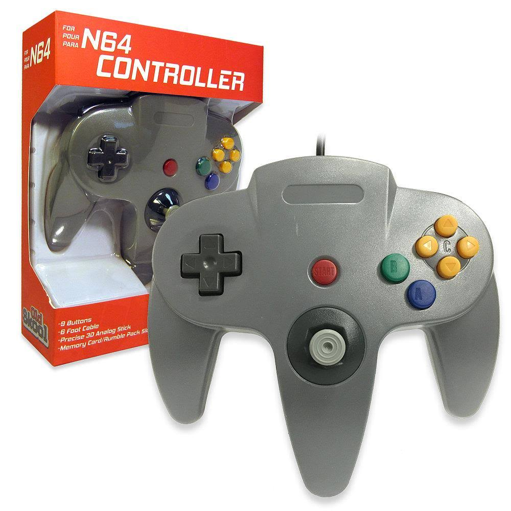 Old Skool Nintendo 64 Classic Wired Controller Joystick - Grey