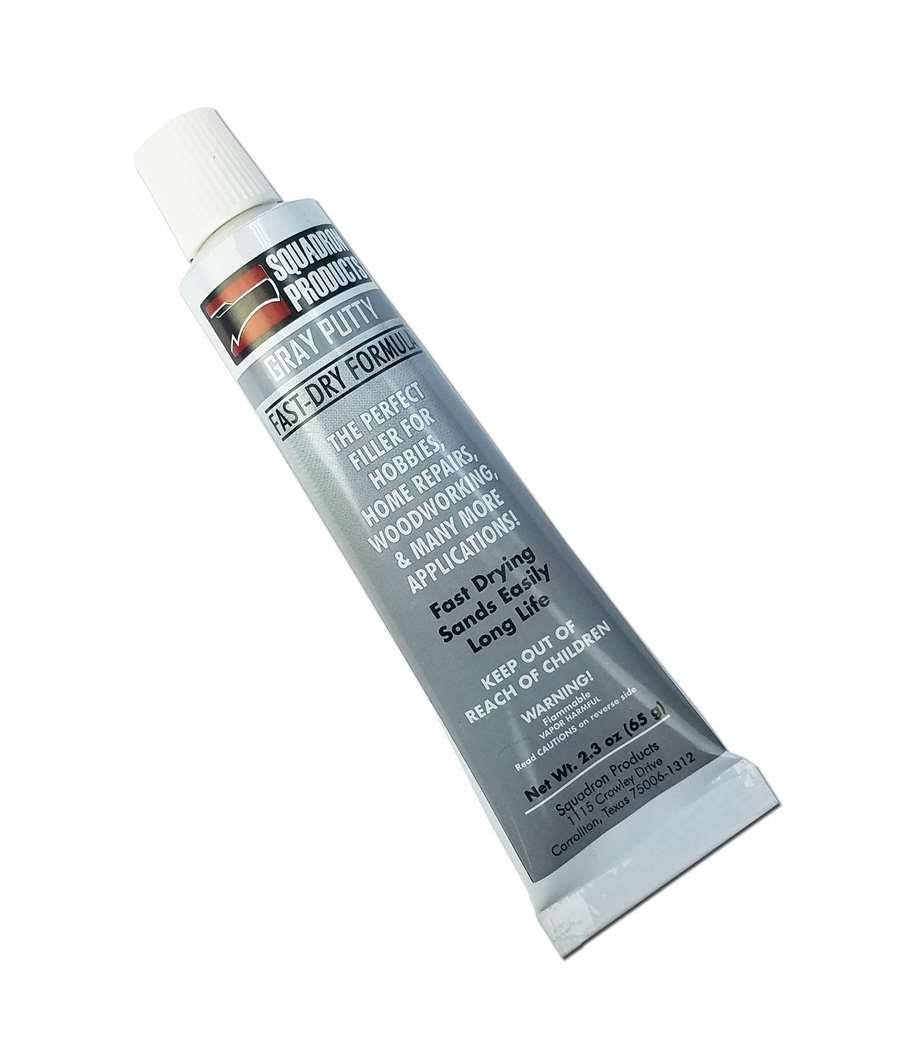 Squadron 20202 Gray Putty for Model & Hobby (2.3 oz Tube)