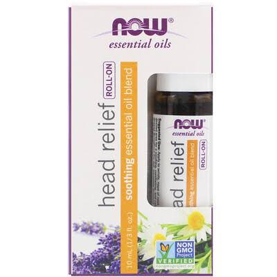 Now Foods Organic Head Relief Essential Oil - 10 ml Roll-On