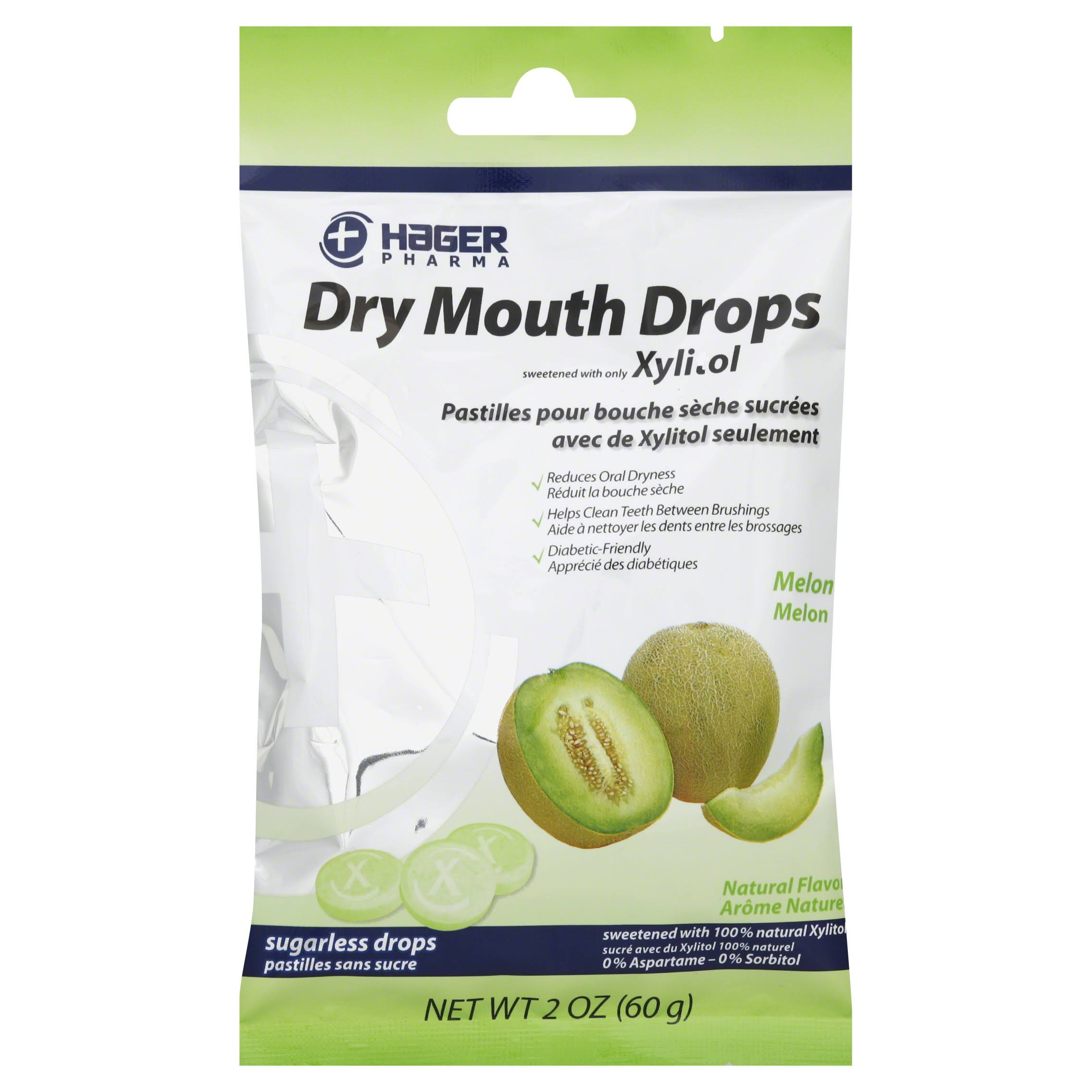 Hager Pharma Dry Mouth Drops - Melon