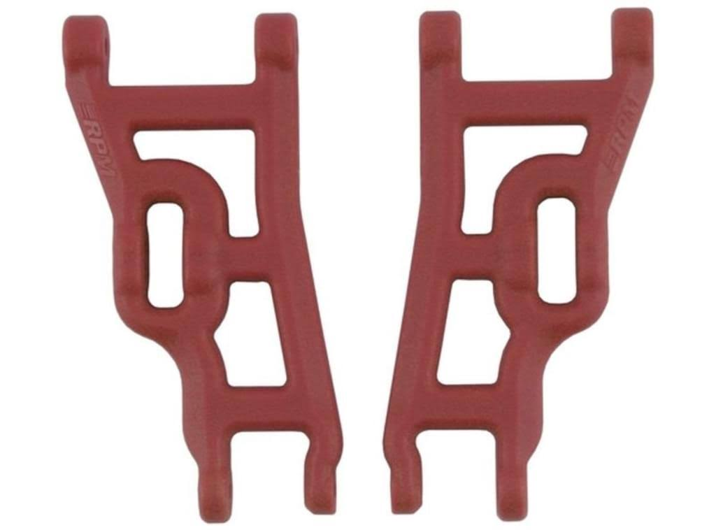 Rpm Rear and Front Heavy Duty A Arms Traxxas Slash - Red, 2 pair