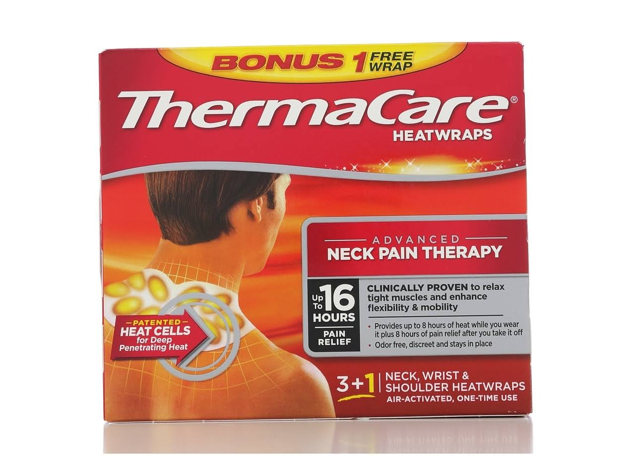 Thermacare Neck, Shoulder & Wrist Heat Wrap - x3