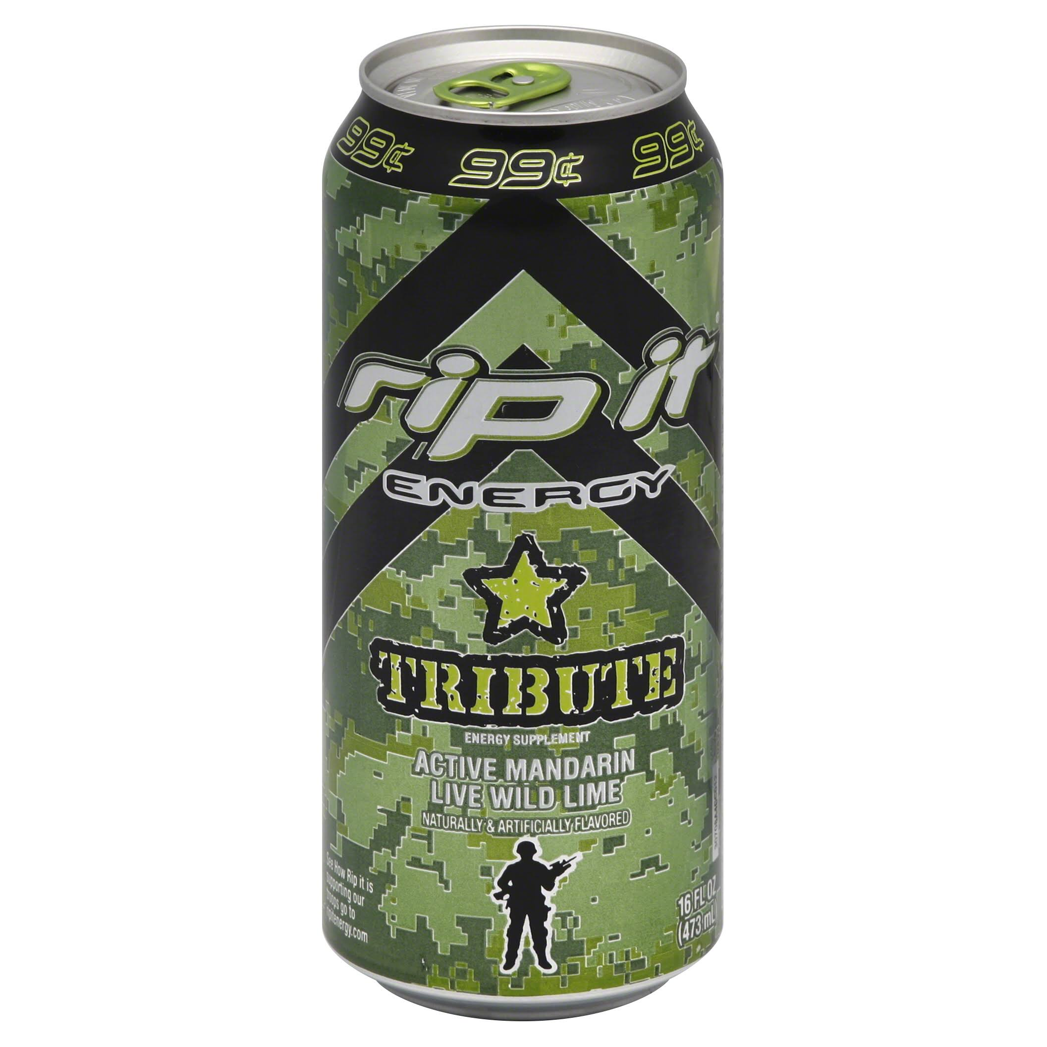 Rip It Energy Tribute Drink - Active Mandarin Live Wild Lime