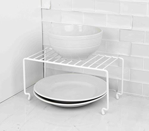 Home Basics Stackable Rack, White