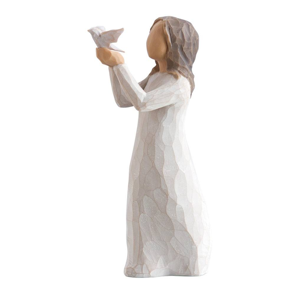Willow Tree Soar Woman with Dove Figurine