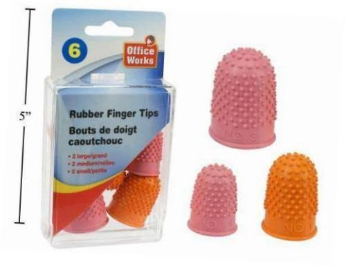 OfficeWorks Quilting Finger Grips, Pack of 6, 3 Sizes