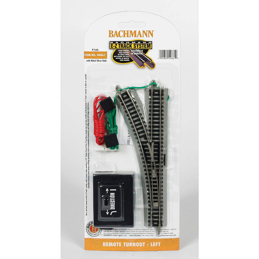 Bachmann N Scale E-z Track Remote Left Hand Switch Train Turnout