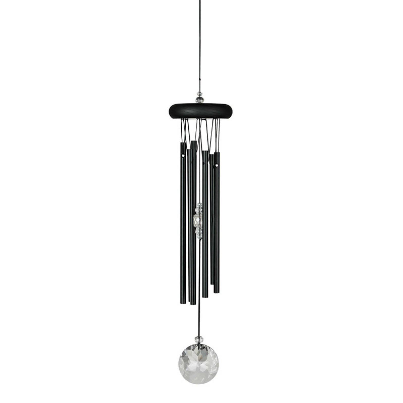 Woodstock Chimes Crystal Meditation Wind Chime - Black, 16""