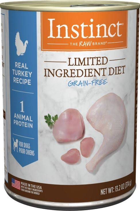 Nature's Variety Instinct Grain-Limited Ingredient Diet Canned Dog Food - Turkey, 13.2 oz