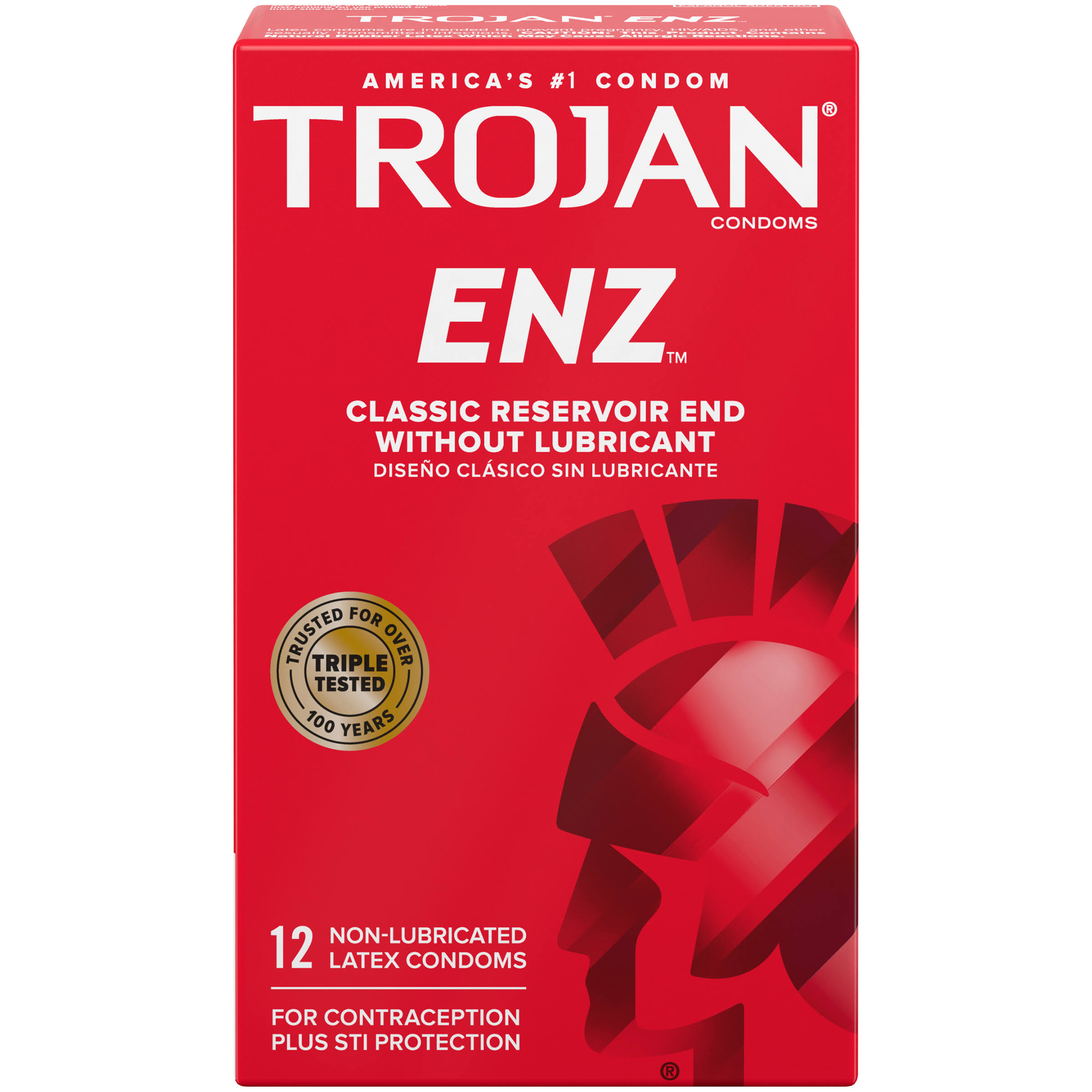Trojan ENZ Non-Lubricated Condoms - 12 Pack