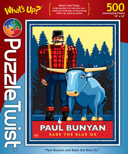 PuzzleTwist Paul Bunyan and Babe The Blue Ox