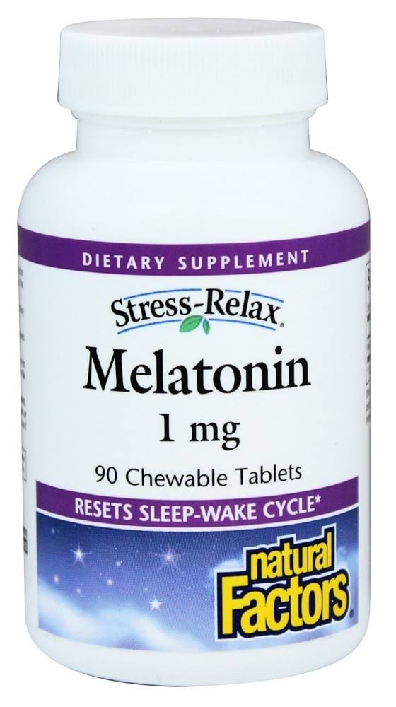 Natural Factors Stress-Relax Melatonin - 1mg, 90 Chewable Tablets