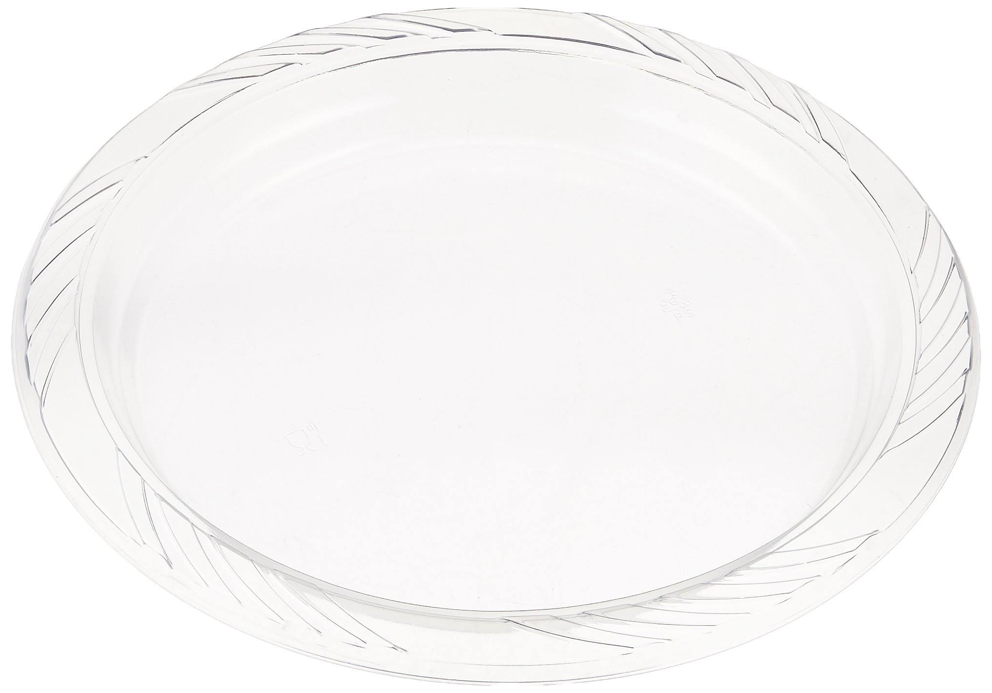 Blue Sky 40 Count Heavyweight Plastic Plates, 9 , Clear