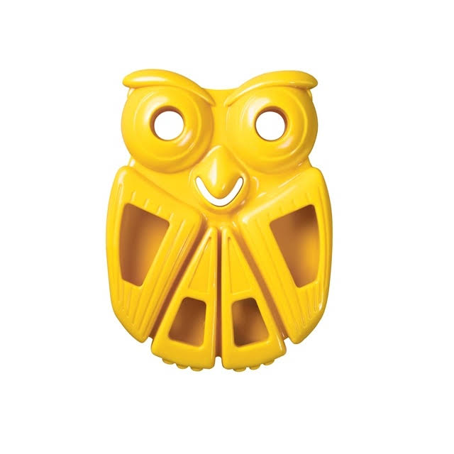 Kong Quest Critter Owl Dog Toy - Yellow, Small