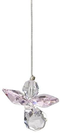 Woodstock Crystal Guardian Angel Charm - October Rose
