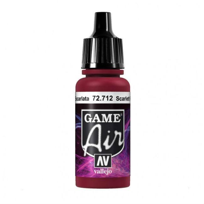 Vallejo Game Air Airbrush Paint - Scarlett Red, 17ml