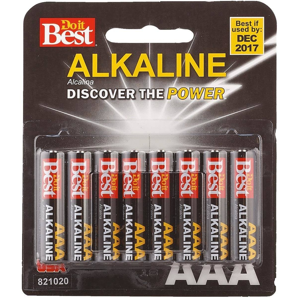 Do It Best Alkaline Battery - Aaa, x8