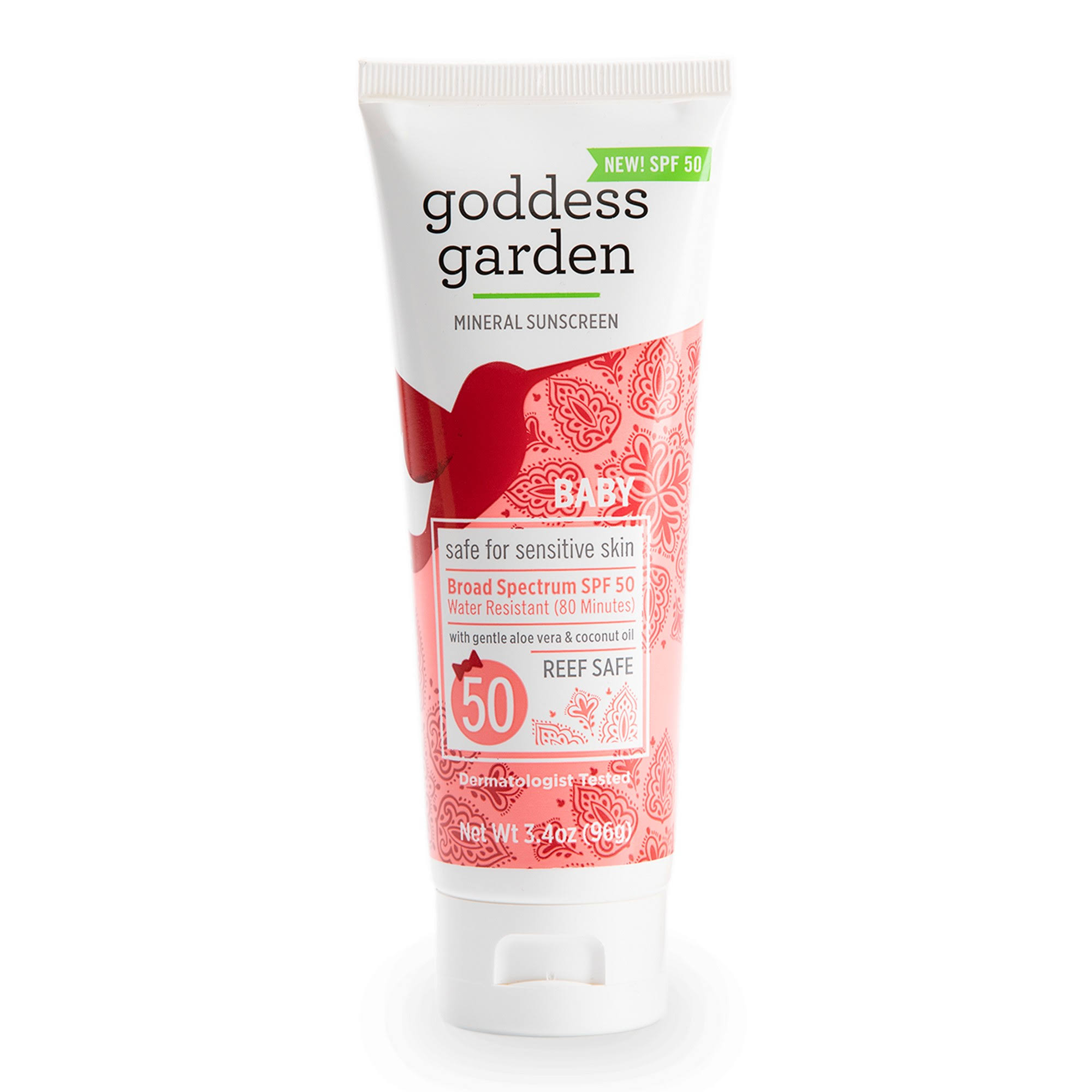 Goddess Garden Mineral Sunscreen, Broad Spectrum SPF 50, Baby - 3.4 oz