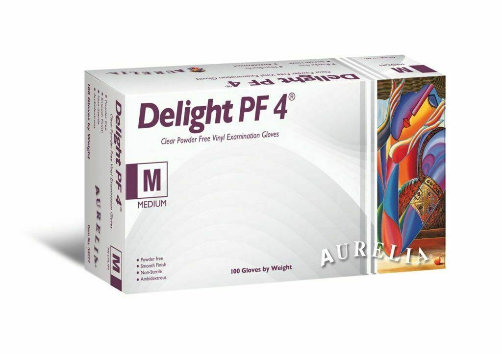 Aurelia Delight PF 4 Disposable Gloves Large - 100 of Pack - 34228