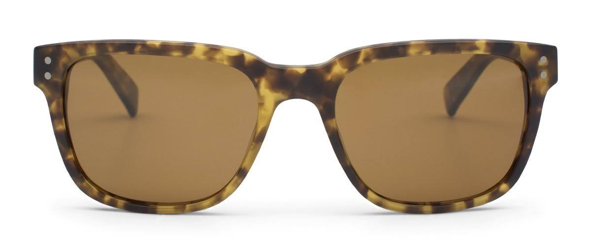 Otis Test of Time Matte Amber Tortoise Brown Polarized Sunglasses