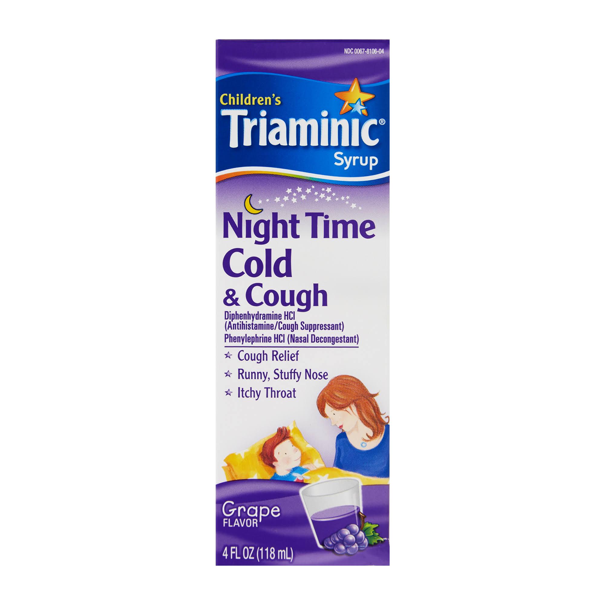 Triaminic Children's Night Time Cold and Cough Syrup - 4oz, Grape Flavor