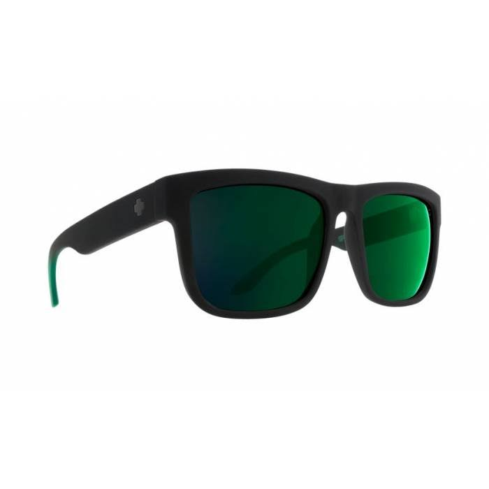 Spy Mirrored Rectangle Sunglasses - Black/Green