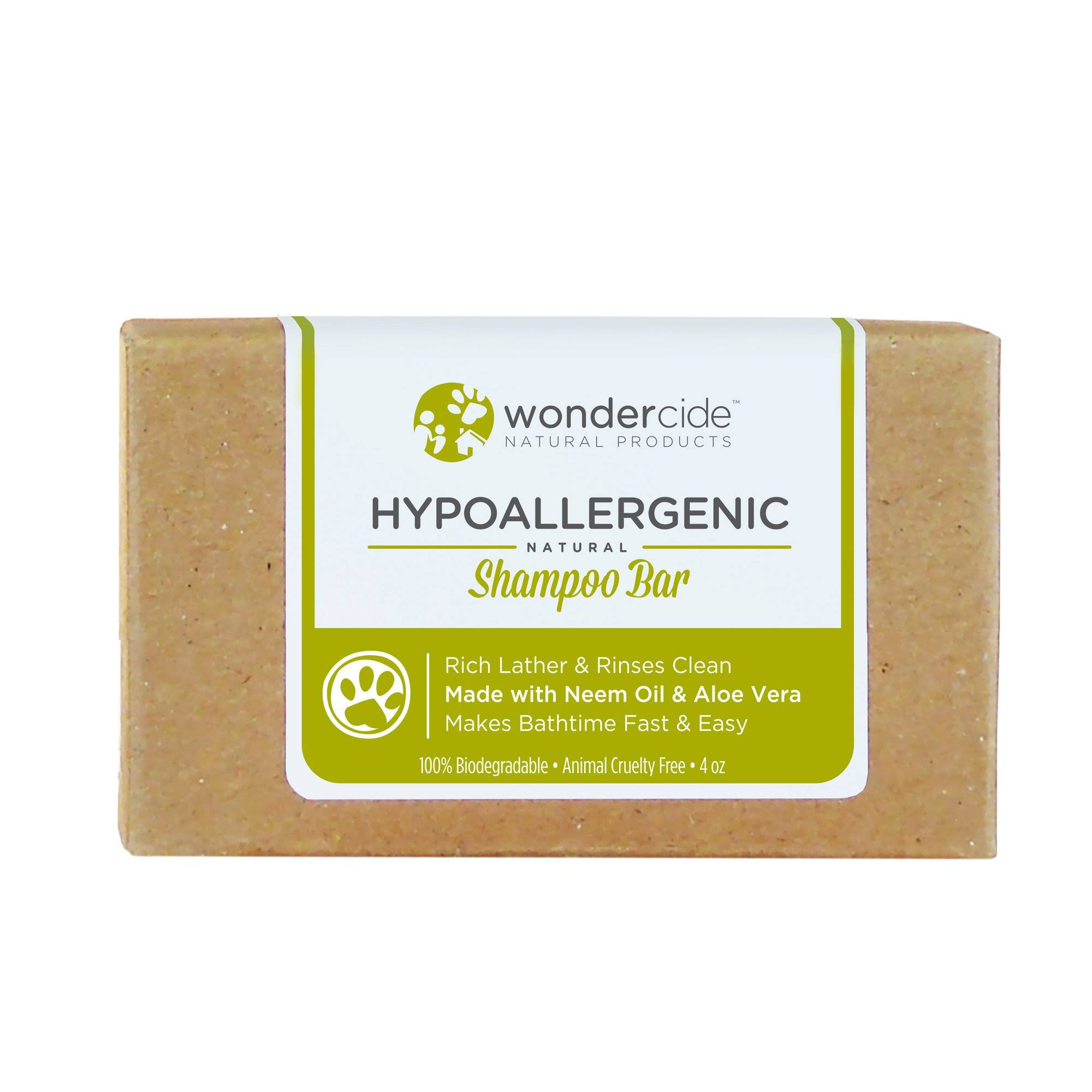 Wondercide Natural Pet Shampoo Bar - 4.3oz
