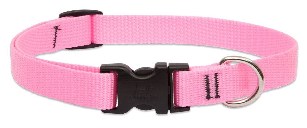 Lupine Adjustable Dog Collar - Pink
