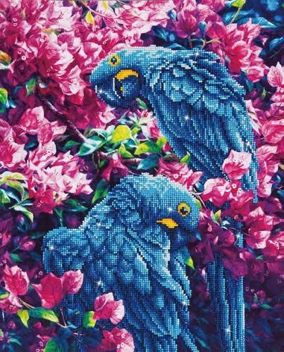 Diamond Dotz Diamond Embroidery Blue Parrot Facet Art Kit