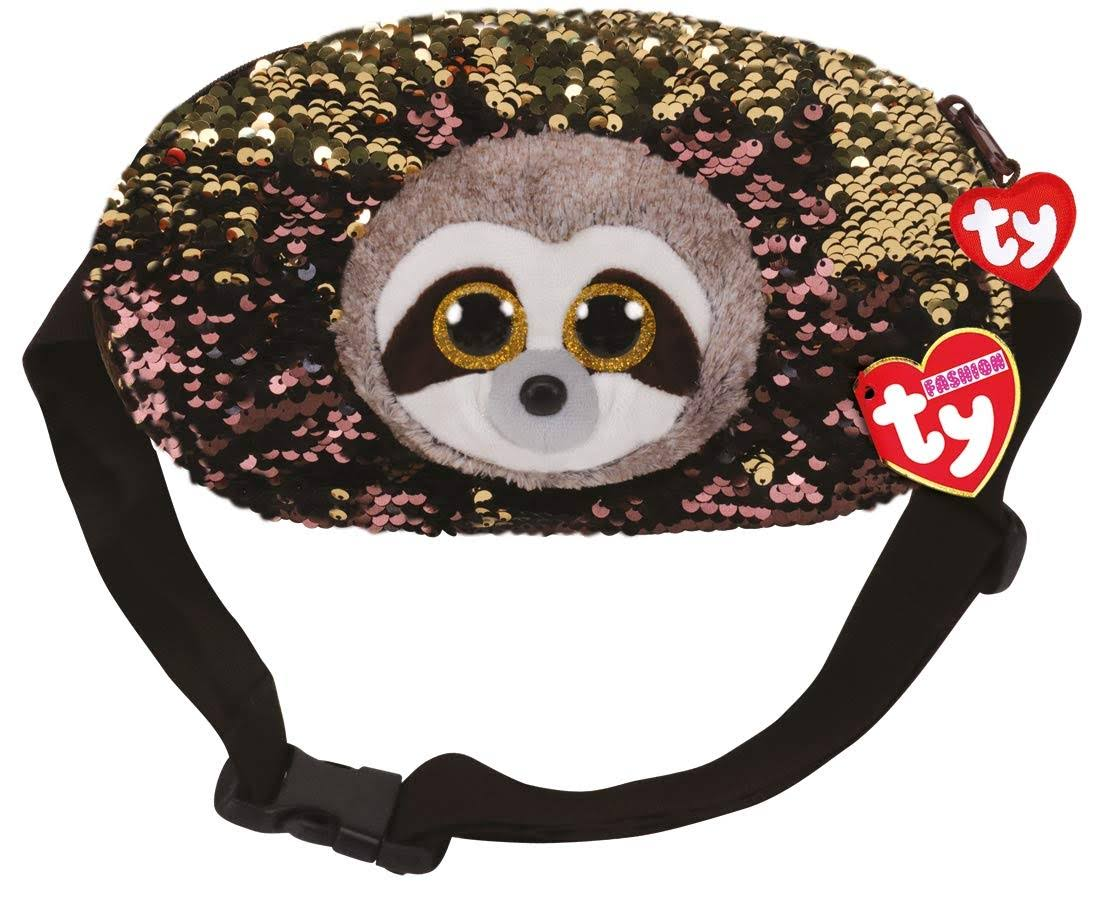 Ty Fashion Flippy Sequin Belt Bag (Fanny Pack) - Dangler The Sloth (9 inch)