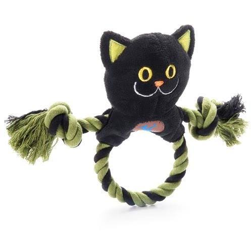 Charming Pet Halloween Ring Toss Dog Toy - Black Cat