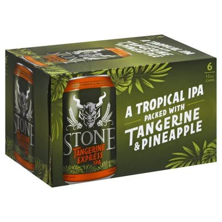 Stone Beer, IPA, Tangerine Express - 6 pack, 12 oz cans