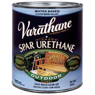 Rust-Oleum Varathane Classic Clear Water Based Outdoor Spar Urethane - Satin Finish