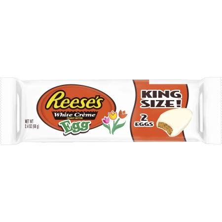 Reese's Easter King Size White Creme Peanut Butter Eggs, 2.4 Ounces