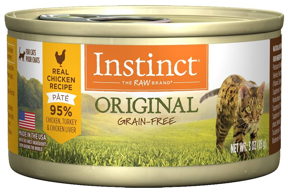 Nature's Variety Instinct Grain-Free Canned Cat Food - Chicken Formula, 3oz