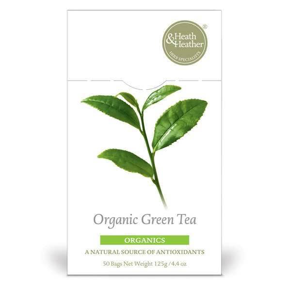 Heath & Heather Organic Green Tea - 50 bags