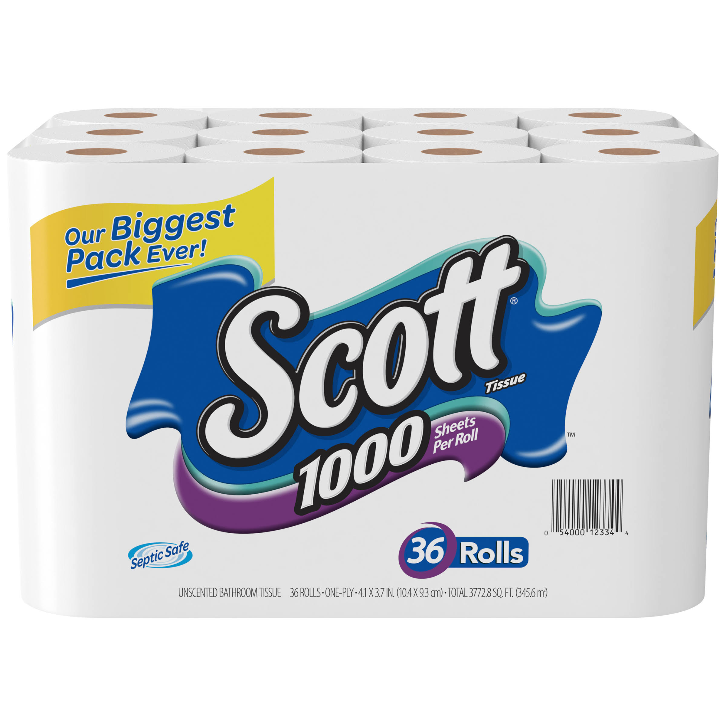 Scott 1000 Bathroom Tissue - 36 Rolls