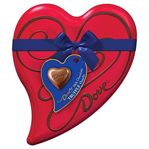 Dove Valentine's Milk Chocolate Truffles Heart Gift Box - 6.5oz
