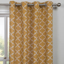 Moroccan Tile Curtain Panels by Dining Room Idea Buy Moroccan Yellow Single Panel Curtain