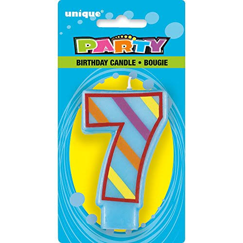 Unique Industries Decorative Birthday Candles - Number 7