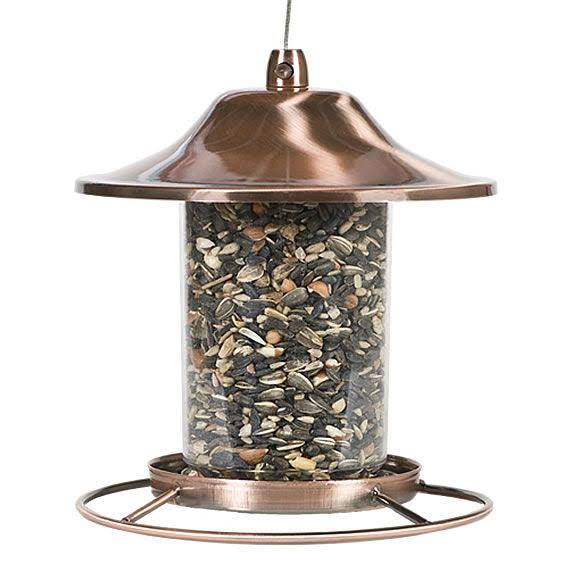 Perky-Pet Panorama Bird Feeder - Antique Copper Finish