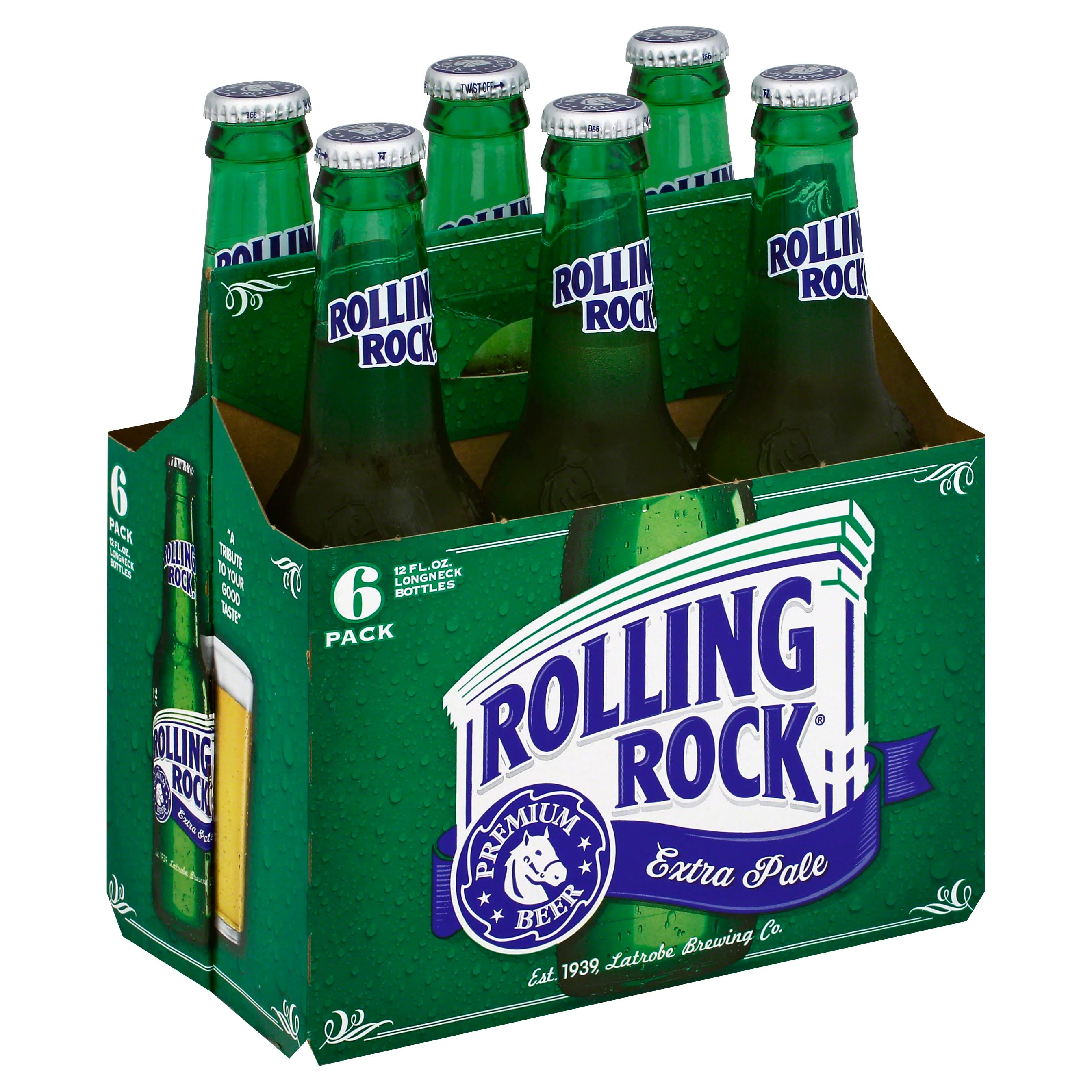 Rolling Rock Lager - 6 Pack